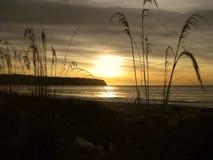 Haast-Strand bei Sonnenuntergang, Neuseeland stockfotografie