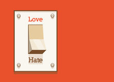Haat niet, enkel liefde! Stock Foto