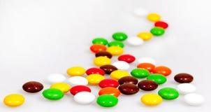Haba colorida del caramelo de chocolate dulce Imágenes de archivo libres de regalías