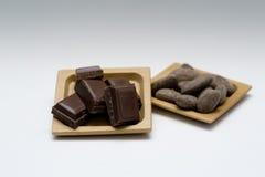 Haba del cacao Imagenes de archivo