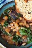 Haba y sopa de verduras Fotos de archivo