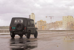 Habana,cuba.hurricane royalty free stock image