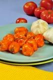 Habanero Peppers Stock Photo