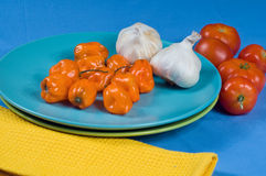 Habanero Peppers Royalty Free Stock Photos
