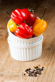 Habanero peppers in plate Stock Photography
