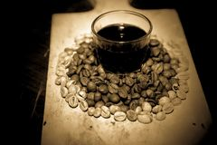 Habas de Coffe Imágenes de archivo libres de regalías