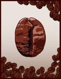 Habas de Coffe stock de ilustración