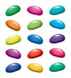 habas de jalea coloridas de la gelatina de la fruta stock de ilustración