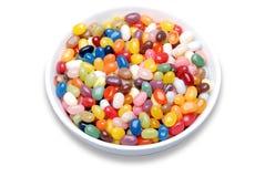 Habas de jalea en un tazón de fuente Foto de archivo libre de regalías