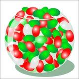 Habas de jalea rojas y verdes Imagen de archivo libre de regalías