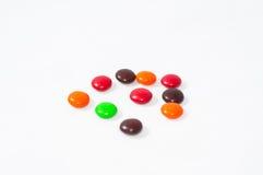 Habas del chocolate Imagen de archivo libre de regalías