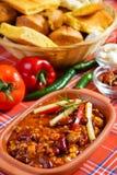 Habas mexicanas del chile Fotos de archivo