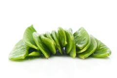 Habas verdes planas frescas Imágenes de archivo libres de regalías