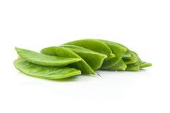 Habas verdes planas frescas Imagenes de archivo