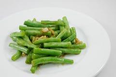 Habas verdes sofritas estilo tailandés Fotografía de archivo libre de regalías