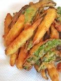 Habas y maíz fritos Foto de archivo