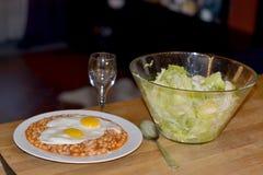 Habas y salade de los ojos Fotografía de archivo