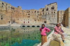 也门, Habbabah村庄 免版税库存照片