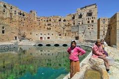 Il Yemen, villaggio di Habbabah Fotografie Stock Libere da Diritti