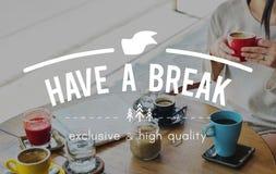 Haben Sie ein Bruch-gerade Bruch-Einstellungs-Entspannungs-Pausen-Konzept Lizenzfreie Stockbilder