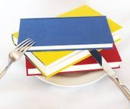 Haben Sie ein Buch zum Frühstück stock abbildung