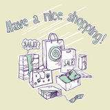 Haben Sie ein nettes Einkaufen. Stockbild