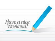 Haben Sie ein nettes Wochenendenillustrationsdesign Lizenzfreies Stockbild