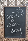 Haben Sie ein schöner Tageszeichen Stockfoto