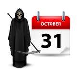 Haben Sie ein sehr furchtsames Halloween! Stockfoto