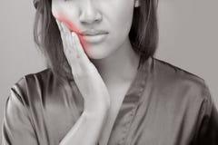 Haben Sie eine Zahnschmerzen lizenzfreie stockbilder