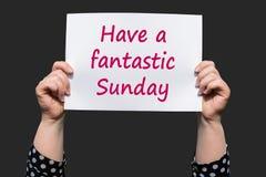 Haben Sie einen fantastischen Sonntag stockbild