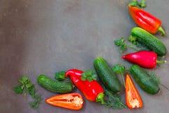 Haben Sie einen schönen Herbsttag Frisches rohes Gemüse vom Bauernhof stockbilder