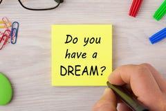Haben Sie einen Traum lizenzfreie stockfotografie