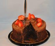 Haben Sie Ihren Kuchen und essen Sie ihn auch! Stockbild