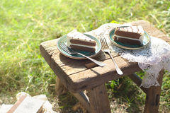 Haben Sie Kuchen den im Freien Stockbild