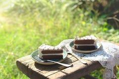 Haben Sie Kuchen den im Freien Stockbilder