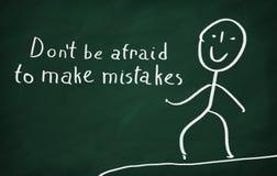 Haben Sie nicht Angst, Fehler zu machen Stockfotos