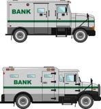 Haben Sie Panzerkampfwagen auf einem weißen Hintergrund in einer Ebene ein Bankkonto Stockbilder