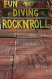 Haben Sie Spaß mit Tauchen und Rock-and-Roll Lizenzfreies Stockfoto