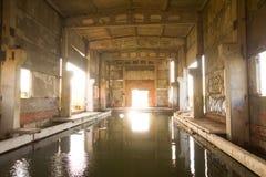 Haber destruido vieja de la planta del abastecimiento de agua y lanzado Imagen de archivo libre de regalías