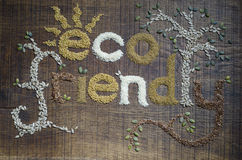 Haber escrito cómoda de Eco y adornado en gérmenes Imagenes de archivo