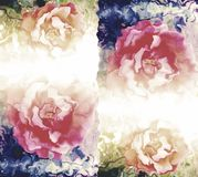 Haber sombreado colorido y empañado con imagen de fondo del efecto luminoso y diseño florales generados por ordenador del papel p libre illustration