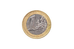 Haber utilizado viejo y haber usado 1 moneda euro Foto de archivo