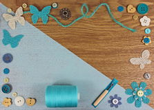 Haberdashery crafts background Royalty Free Stock Photography