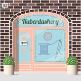 Haberdashery shop facade. Stock Image