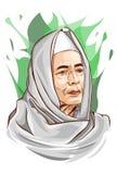Habib Luthfi bin Yahya royaltyfria bilder