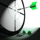 Habilidade e estratégia de Triumph das mostras do alvo Imagens de Stock