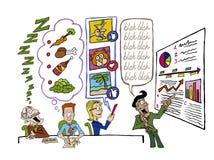 Habilidades de la presentación stock de ilustración