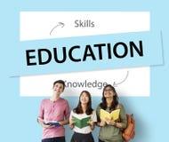 Habilidades del conocimiento de la educación que aprenden concepto Imagenes de archivo