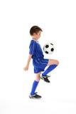 Habilidades del fútbol Imagen de archivo libre de regalías